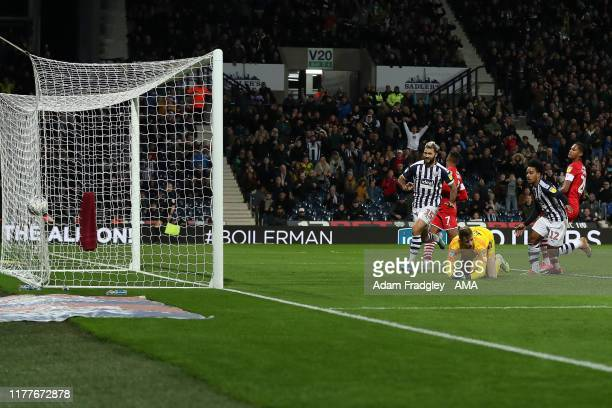 Matheus Pereira of West Bromwich Albion scores a goal to make it 2-2 during the Sky Bet Championship match between West Bromwich Albion and Barnsley...