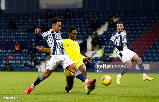 Matheus Pereira of West Bromwich Albion scores their side's second goal during the Premier League match between West Bromwich Albion and Fulham at...