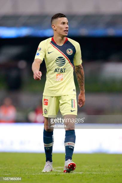 Matheus Uribe of America looks on during the 9th round match between America and Morelia as part of the Torneo Apertura 2018 Liga MX at Azteca...