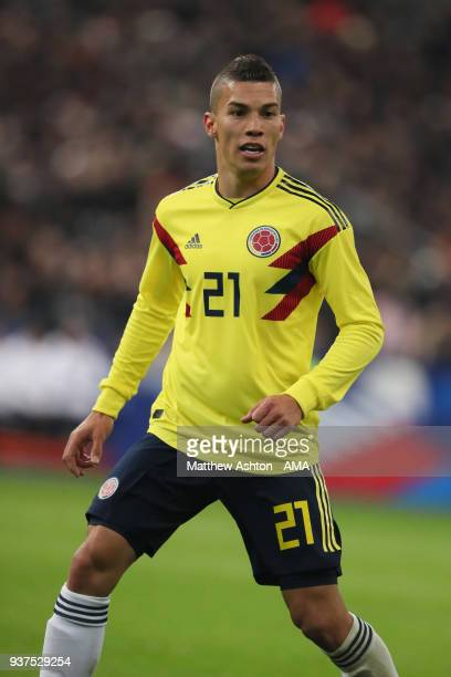 Matheus Uribe of Colombia during the International Friendly match between France and Colombia at Stade de France on March 23 2018 in Paris France