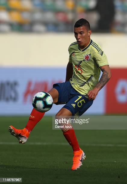 Matheus Uribe of Colombia in action during a friendly match between Peru and Colombia at Estadio Monumental on June 9, 2019 in Lima, Peru.