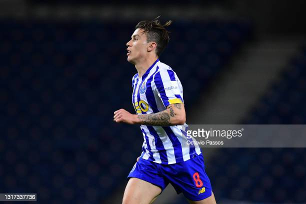 Matheus Uribe of FC Porto in action during the Liga NOS match between FC Porto and SC Farense at Estadio do Dragao on May 10, 2021 in Porto,...