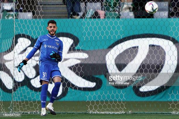 Matheus Vidotto of Tokyo Verdy in action during the J.League Meiji Yasuda J2 match between Tokyo Verdy and Ehime FC at Ajinomoto Stadium on February...