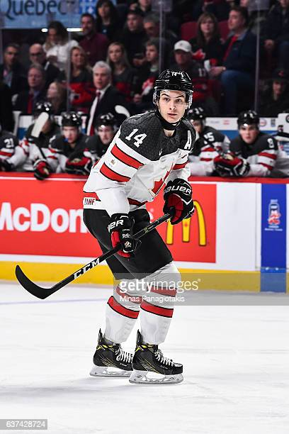 Mathew Barzal of Team Canada skates during the 2017 IIHF World Junior Championship quarterfinal game against Team Czech Republic at the Bell Centre...