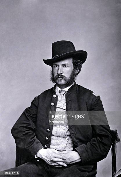 Mathew Brady studio portrait of Captain Edward P Doherty ca 1865 As a lieutenant Doherty was in nominal command of the force that caught John Wilkes...