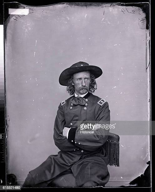 Mathew Brady studio portrait of Major General George Armstrong Custer an outstanding Federal cavalry officer of the American Civil War