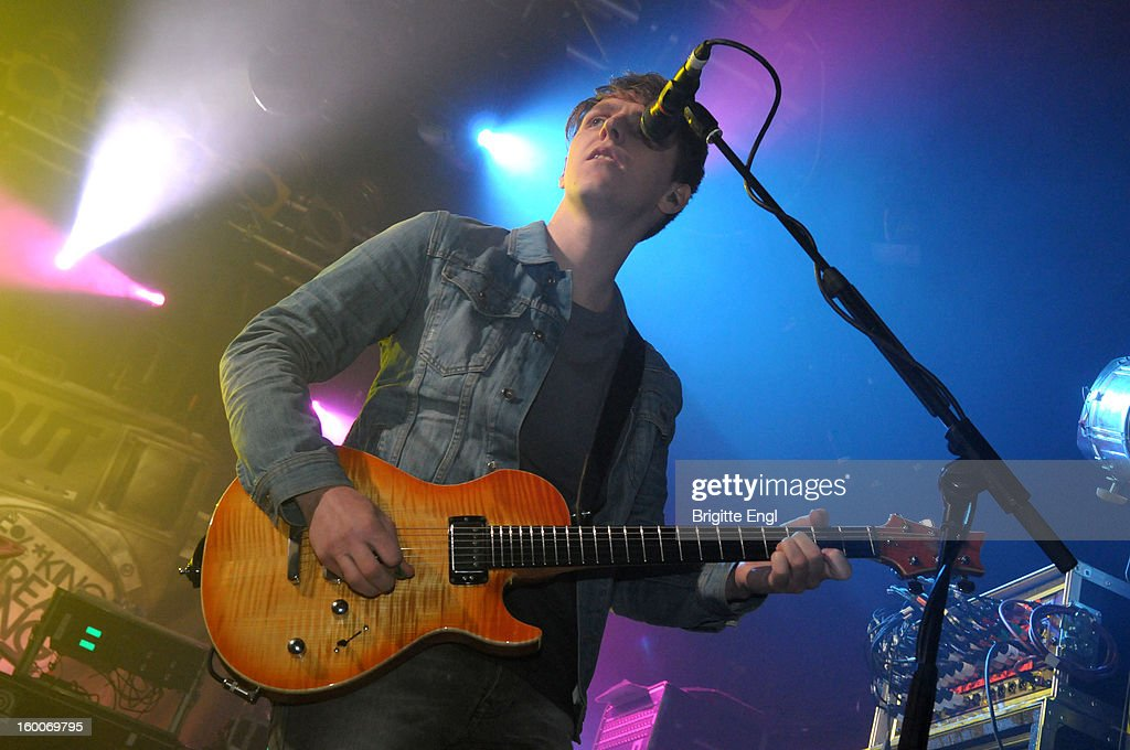 Mathew Davies of Blackout performs on stage at the Electric Ballroom on January 25, 2013 in London, England.