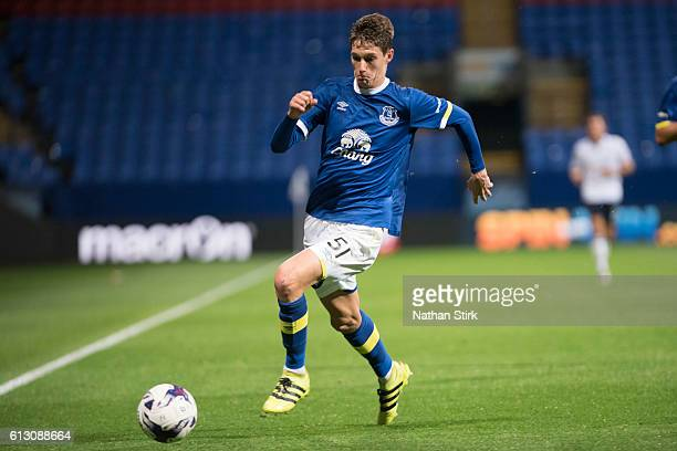 Mathew Foulds of Everton during the Checkatrade Trophy group match between Bolton Wanderers and Everton under23s at Macron Stadium on August 30 2016...