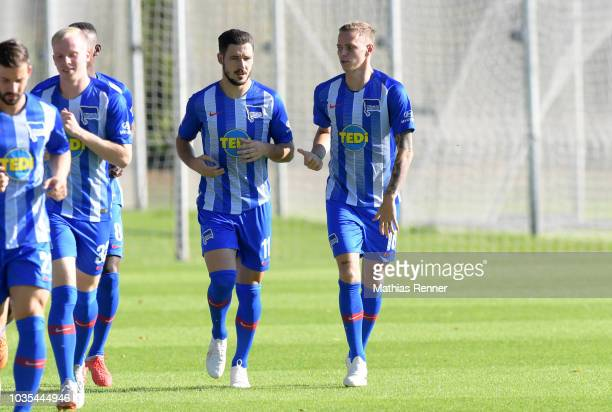 Assistant coach Rainer Widmayer of Hertha BSC during the training at the Schenkendorfplatz on September 18 2018 in Berlin Germany