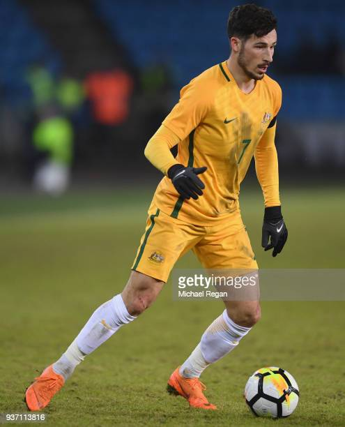 Mathew Leckie of Australia in action during the International Friendly match between Norway and Australia at Ullevaal Stadion on March 23 2018 in...