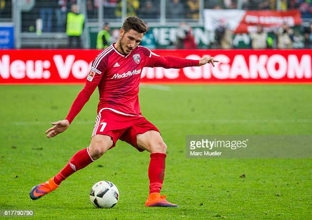 Mathew Leckie of FC Ingolstadt 04 with ball during the Bundesliga match between FC Ingolstadt 04 and Borussia Dortmund at Audi Sportpark on October...