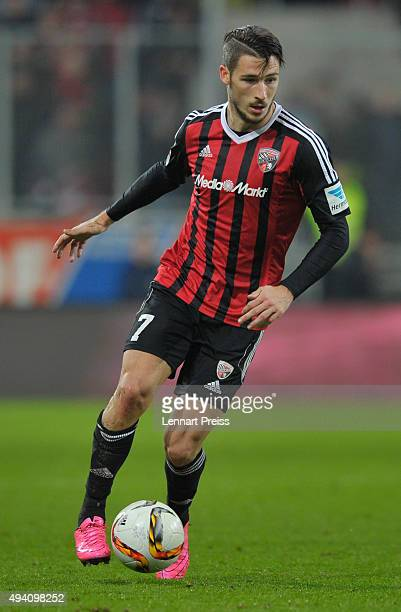 Mathew Leckie of FC Ingolstadt in action during the Bundesliga match between FC Ingolstadt and Hertha BSC at Audi Sportpark on October 24 2015 in...