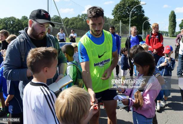 Mathew Leckie of Hertha BSC after the Training on august 23 2017 in Berlin Germany