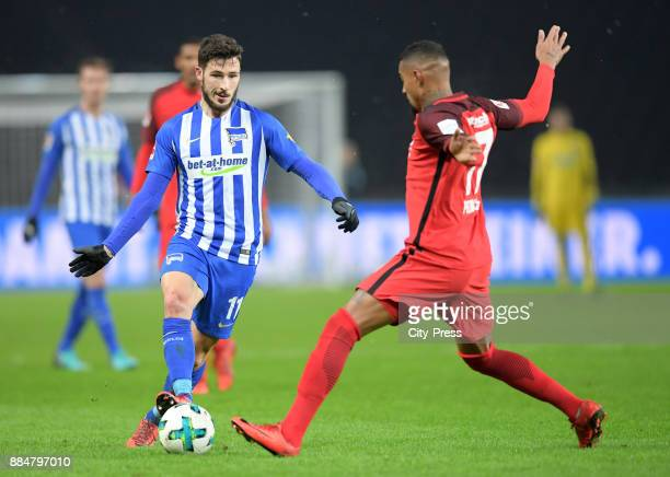Mathew Leckie of Hertha BSC and KevinPrince Boateng of Eintracht Frankfurt during the game between Hertha BSC and the Eintracht Frankfurt on december...
