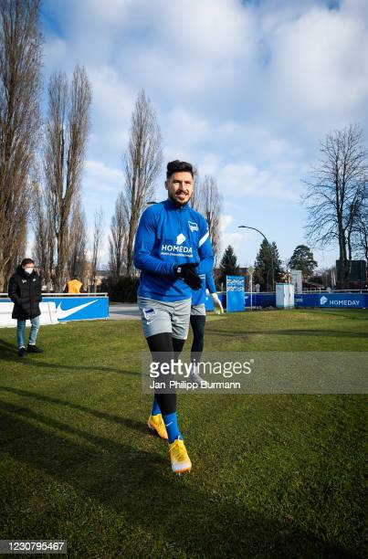 Mathew Leckie of Hertha BSC during the training session at Schenckendorffplatz on January 26, 2021 in Berlin, Germany.