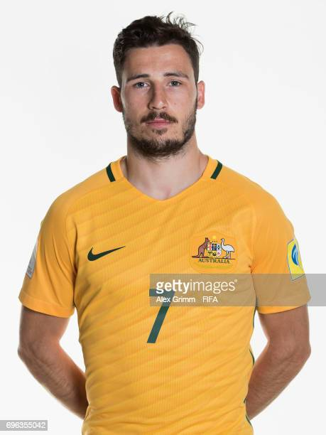 Mathew Leckie poses for a picture during the Australia team portrait session on June 15 2017 in Sochi Russia
