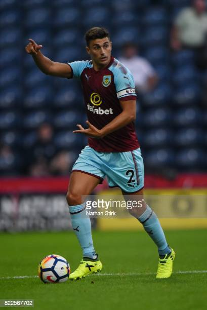 Mathew Lowton of Burnley in action during the pre season friendly match between Preston North End and Burnley at Deepdale on July 25 2017 in Preston...
