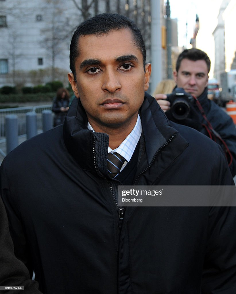 Mathew Martoma, a former portfolio manager at a unit of SAC Capital Advisors LP, exits federal court in New York, U.S., on Monday, Nov. 26, 2012. Martoma's arrest came six years after he set upon a path that has led him to a choice: one between a trial that may land him in prison for decades, or a deal to implicate others, possibly including SAC founder Steven A. Cohen. Photographer: Peter Foley/Bloomberg via Getty Images