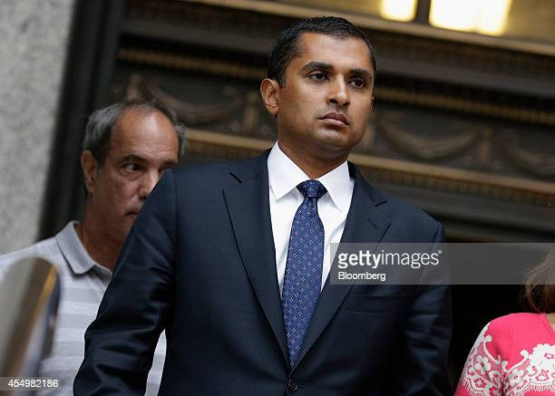 Mathew Martoma a former SAC Capital Advisors LP fund manager exits federal court following a sentencing hearing in New York US on Monday Sept 8 2014...