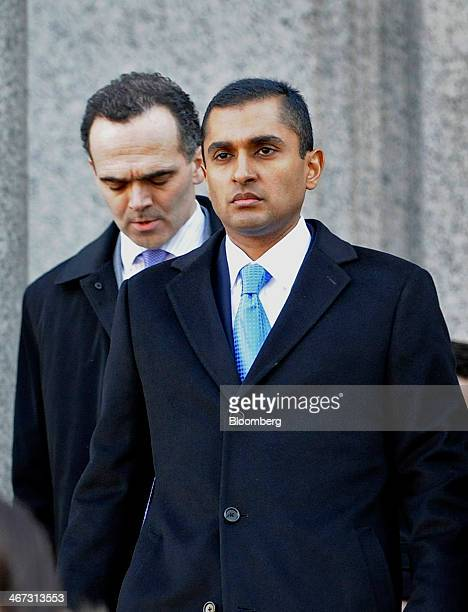 Mathew Martoma a former SAC Capital Advisors LP fund manager right exits federal court with his attorney Roberto Braceras in New York US on Thursday...