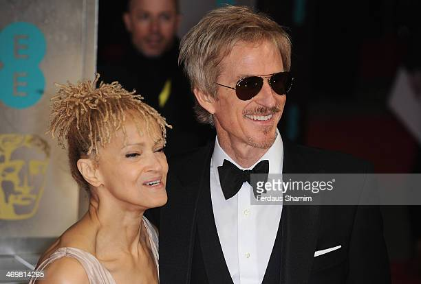Mathew Modine and wife Caridad Rivera attend the EE British Academy Film Awards 2014 at The Royal Opera House on February 16 2014 in London England