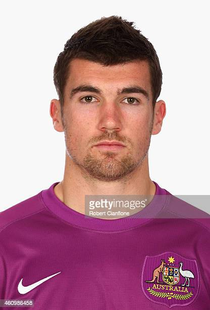 Mathew Ryan of Australia poses during an Australian Socceroos headshot session at the InterContinental Hotel on January 3 2015 in Melbourne Australia