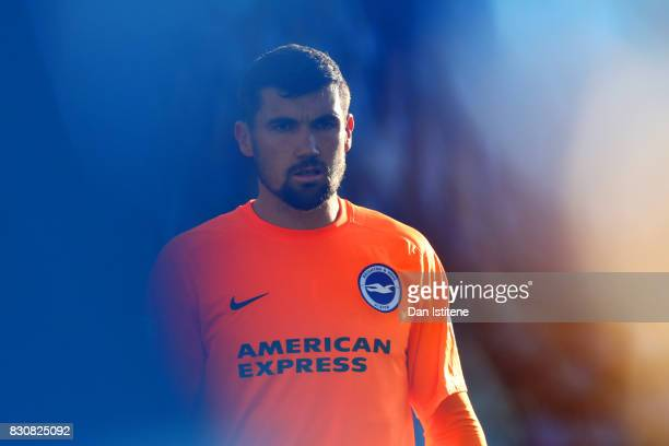 Mathew Ryan of Brighton and Hove Albion looks on during the Premier League match between Brighton and Hove Albion and Manchester City at Amex Stadium...