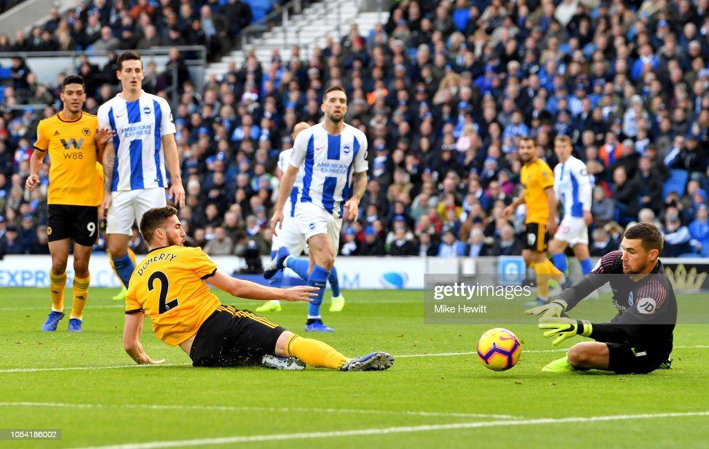 Brighton & Hove Albion v Wolverhampton Wanderers - Premier League : News Photo