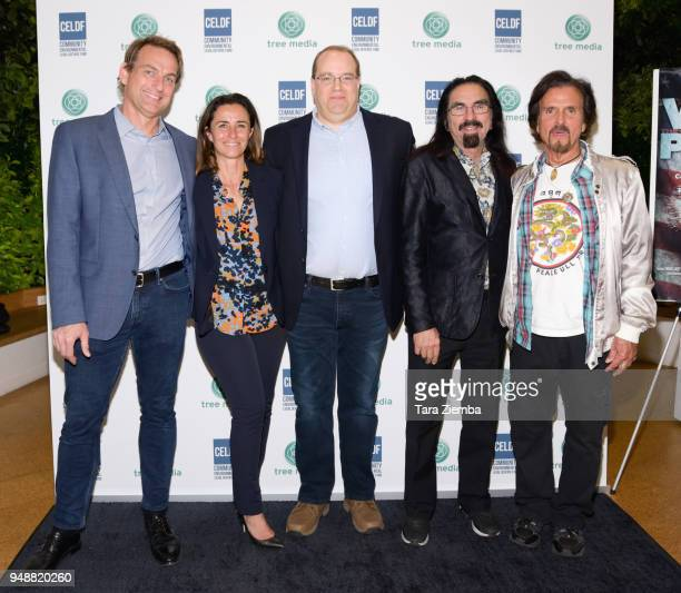 Mathew Schmid Leila Conners Thomas Linzey George Dicaprio Francesco Lupica attend Tree Media's salon for 'We The People 20' at Los Angeles Cleantech...