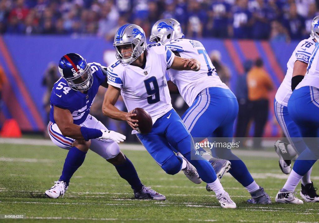 Detroit Lions vs New York Giants : News Photo