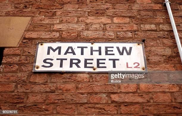 Mathew Street Liverpool Sign