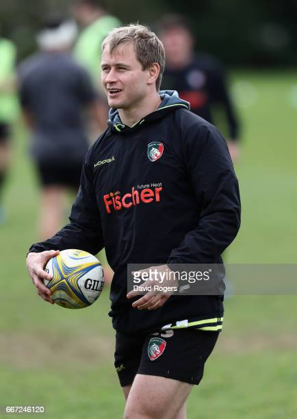Mathew Tait looks on during the Leicester Tigers training session held at their training centre on April 11 2017 in Leicester England