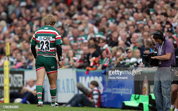 Mathew Tait of Leicester during the AVIVA Premiership match between Leicester Tigers and Saracens at Welford Road on September 24 2011 in Leicester...