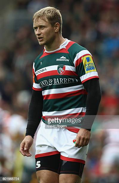 Mathew Tait of Leicester looks on during the Aviva Premiership match between Leicester Tigers and Wasps at Welford Road on September 10 2016 in...