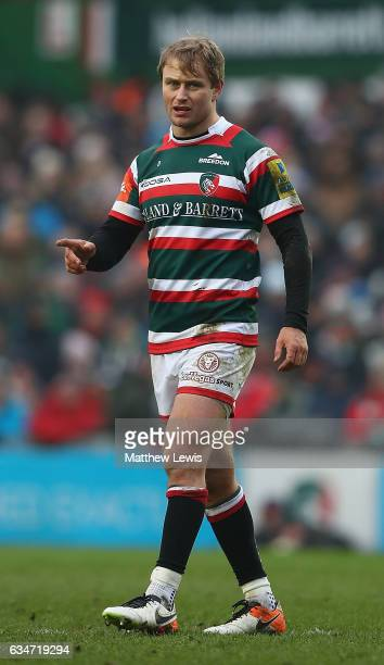 Mathew Tait of Leicester Tigers in action during the Aviva Premiership match between Leicester Tigers and Gloucester Rugby at Welford Road on...