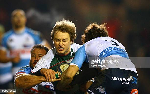 Mathew Tait of Leicester Tigers in action during the European Rugby Champions Cup match between Leicester Tigers and Benetton Treviso at Welford Road...