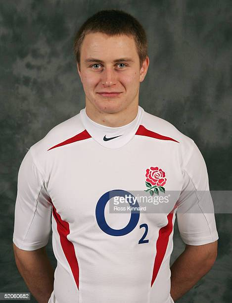 Mathew Tait poses during an England squad session at Loughborough University on January 25 2005 in Loughborough England