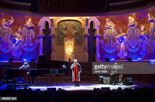 Mathias Algotsson Barbara Hendricks and Ulf Enfglund perform on stage during Festival Internacional de Jazz de Barcelona on December 15 2017 in...