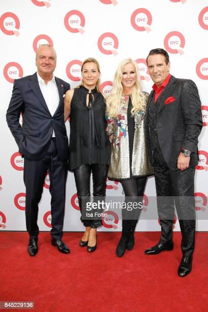 Mathias Bork CEO QVC Germany and his wife Iris Bork German presenter Anna Heesch and her partner Ralf Duemmel jury member of 'Hoehle der Loewen'...