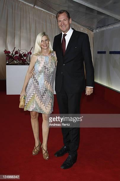 Mathias Doepfner and his wife Ulrike Doepfner attend the annual Bertelmann party 2011 on September 14 2011 in Berlin Germany