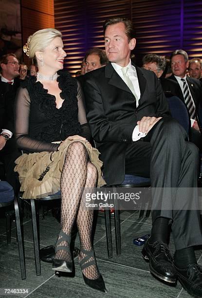 Mathias Doepfner CEO of Axel Springer publishing house and his wife Ulrike attend the Goldene Lenkrad awards at Axel Springer Haus November 8 2006 in...