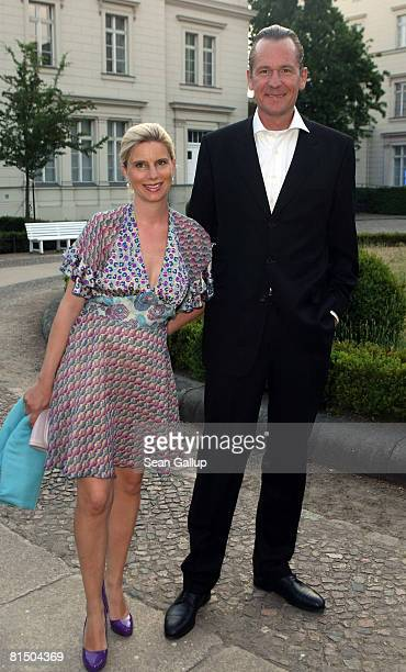 Mathias Doepfner chairman of German newspaper and magazine publisher Axel Springer and his wife Ulrike attend the Katjes Black Dinner at the Sarah...