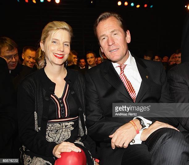 Mathias Doepfner chairman of German newspaper and magazine publisher Axel Springer and his wife Ulrike attend the 'Das Goldene Lenkrad' award...