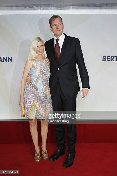 Mathias Döpfner Mit Ehefrau Ulrike Beim Bertelsmann Sommerfest In Berlin