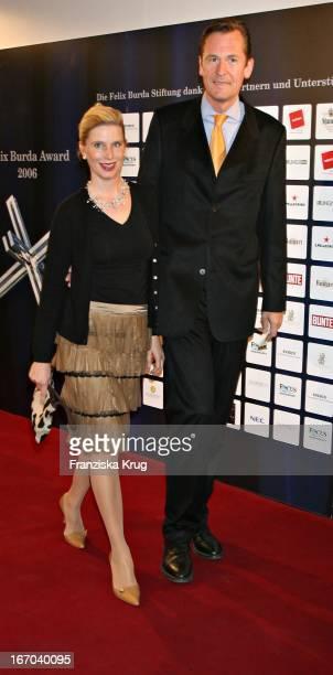 Mathias Döpfner Und Ehhefrau Ulrike Bei Der Verleihung Des Felix Burda Award Im Ritz Carlton In Berlin Am 210306