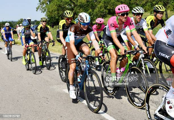 Mathias Frank of Switzerland and Team AG2R La Mondiale / Sep Vanmarcke of Belgium and Team EF Education First - Drapac P/B Cannondale / Damien Howson...