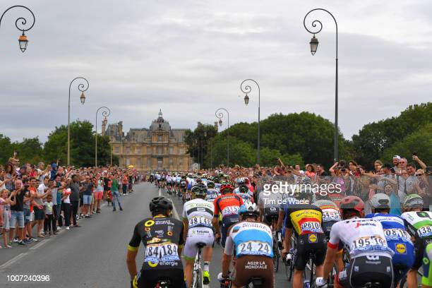 Mathias Frank of Switzerland and Team AG2R La Mondiale / Yves Lampaert of Belgium and Team Quick-Step Floors / Maisons-Laffitte City / Landscape /...
