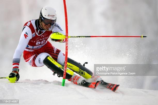 Mathias Graf of Austria in action during the Audi FIS Alpine Ski World Cup Men's Slalom on November 24, 2019 in Levi Finland.
