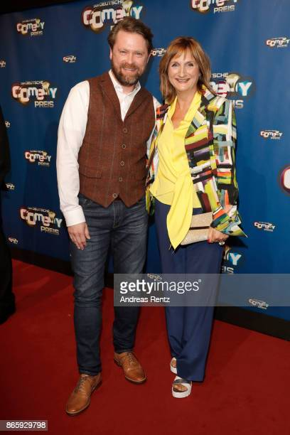 Mathias HarrebyeBrandt and Petra Nadolny attend the 21st Annual German Comedy Awards at Studio in Koeln Muehlheim on October 24 2017 in Cologne...