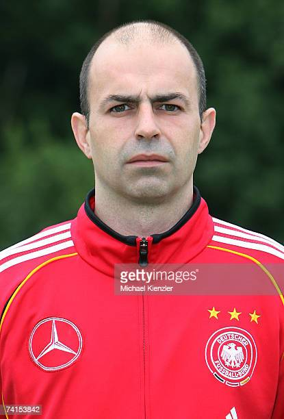 Mathias Hilse of the U18 German National Team poses during a photo call at LangensteinStadion on May 15 2007 in WaldshutTiengen Germany